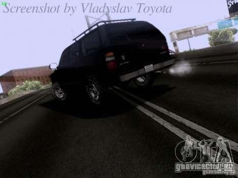 Chevrolet Tahoe 2003 SWAT для GTA San Andreas вид сзади слева