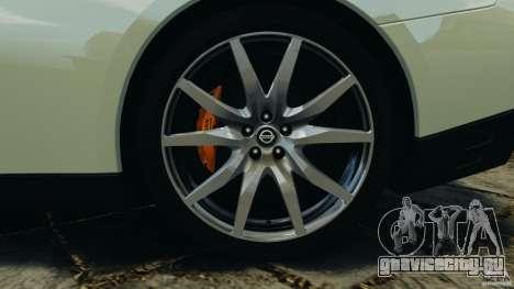 Nissan GT-R 2012 Black Edition для GTA 4 салон