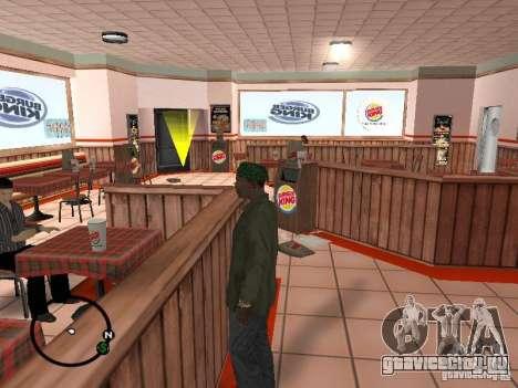 Новые текстуры забегаловок для GTA San Andreas второй скриншот