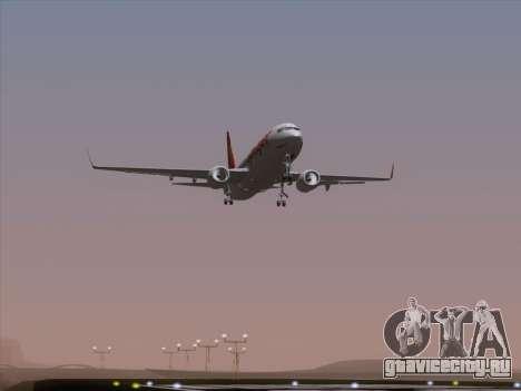 Boeing 737-8F2 Spicejet для GTA San Andreas вид снизу