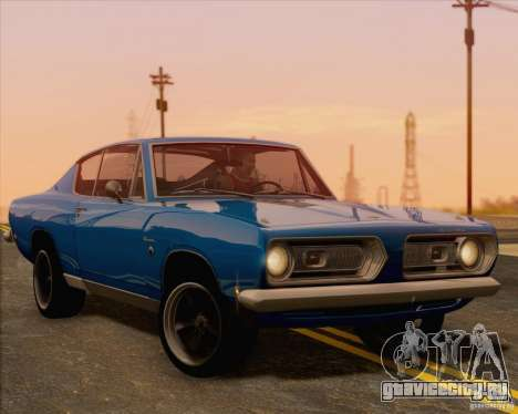 Plymouth Barracuda 1968 для GTA San Andreas вид сзади