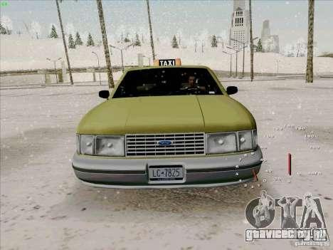 HD Taxi SA из GTA 3 для GTA San Andreas вид изнутри