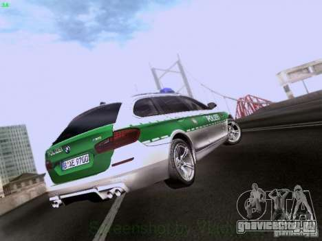 BMW M5 Touring Polizei для GTA San Andreas вид справа
