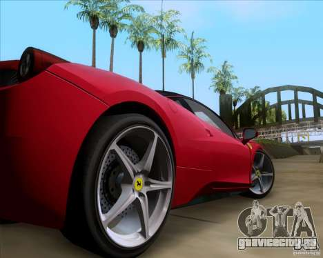 Ferrari 458 Italia V12 TT Black Revel для GTA San Andreas вид сзади
