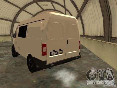 ГАЗ 2752 Соболь Бизнес для GTA San Andreas вид сзади слева