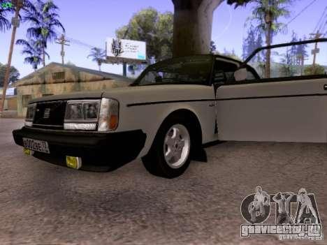 Volvo 242 Turbo для GTA San Andreas вид сзади