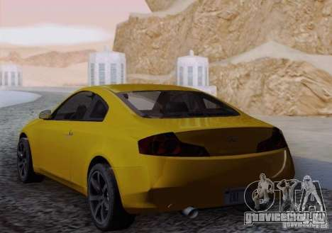 Infiniti G35 для GTA San Andreas вид сзади слева