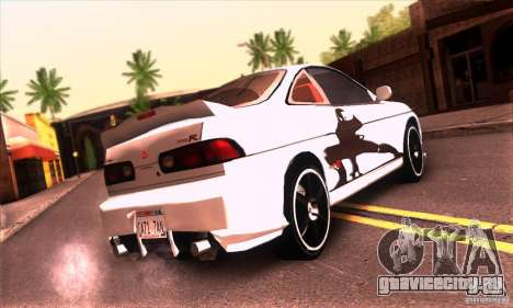 Honda Integra Tunable для GTA San Andreas вид снизу