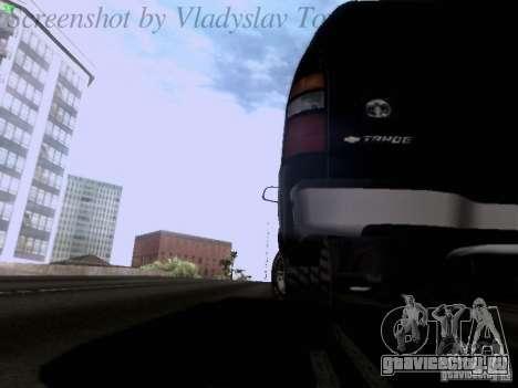 Chevrolet Tahoe 2003 SWAT для GTA San Andreas вид сбоку