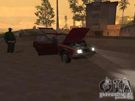 АЗЛК 2141 Москвич для GTA San Andreas вид изнутри