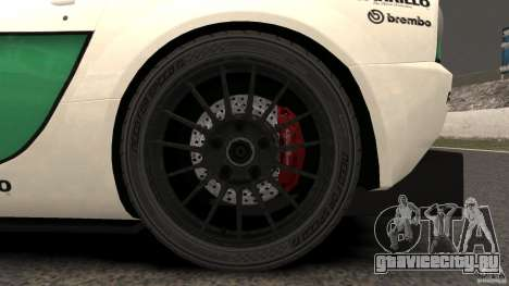 Alfa Romeo 8C Competizione Body Kit 1 для GTA 4 вид сзади