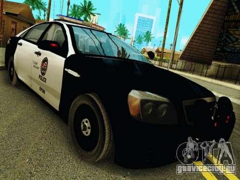 Chevrolet Caprice 2011 Police для GTA San Andreas вид сзади