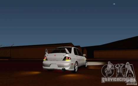Mitsubishi Lancer Evo VIII GSR для GTA San Andreas вид сзади слева