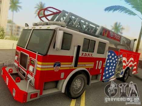 Seagrave FDNY Ladder 10 для GTA San Andreas вид сзади слева