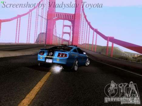 Ford Mustang GT 2011 Police Enforcement для GTA San Andreas вид изнутри