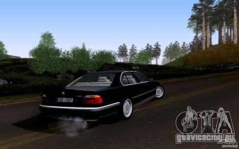 BMW 730i E38 для GTA San Andreas вид сверху