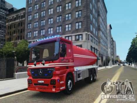 Mercedes-Benz Vanntankbil / Water Tanker для GTA 4 вид слева