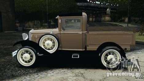 Ford Model A Pickup 1930 для GTA 4 вид слева