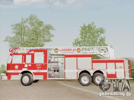 Pierce Arrow LAFD Ladder 43 для GTA San Andreas вид снизу