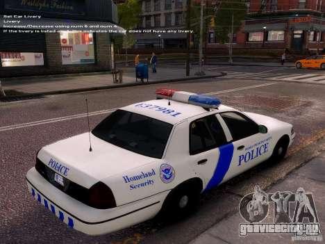 Ford Crown Victoria Homeland Security для GTA 4 вид изнутри
