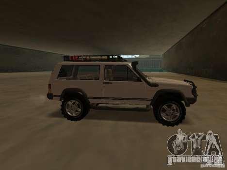 Jeep Cherokee Sport для GTA San Andreas вид слева