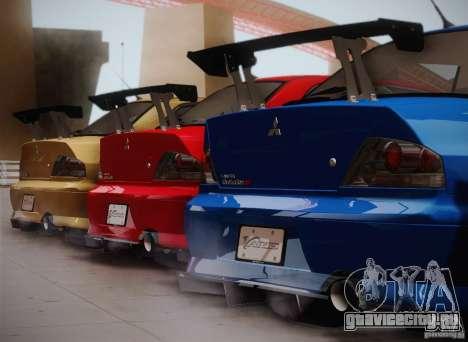 Mitsubishi Lancer Evolution VIII MR Edition для GTA San Andreas вид слева