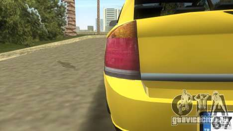 Opel Vectra для GTA Vice City вид изнутри