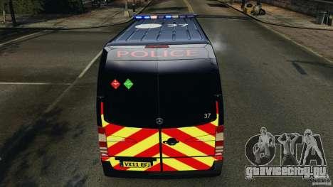 Mercedes-Benz Sprinter Police [ELS] для GTA 4 колёса