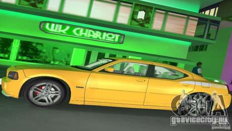 Dodge Charger RT для GTA Vice City вид сзади