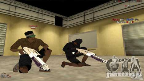 New Chrome Guns v1.0 для GTA San Andreas шестой скриншот