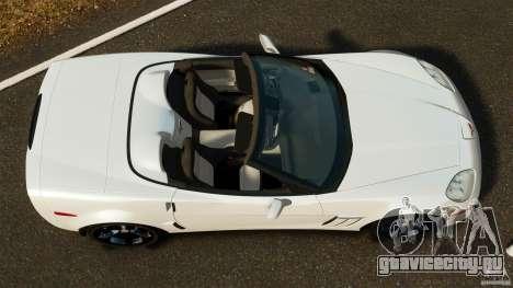 Chevrolet Corvette C6 2010 Convertible для GTA 4 вид справа