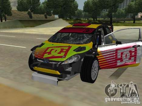 Ford Fiesta H.F.H.V. Ken Block Gymkhana 5 для GTA San Andreas вид сбоку