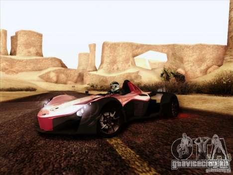 BAC MONO для GTA San Andreas вид сзади