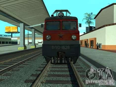 ВЛ10-1628 РЖД для GTA San Andreas вид сзади слева