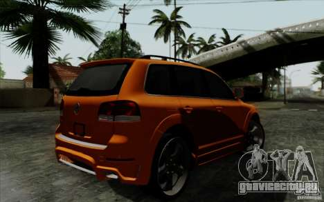 Volkswagen Touareg R50 Light для GTA San Andreas вид сзади