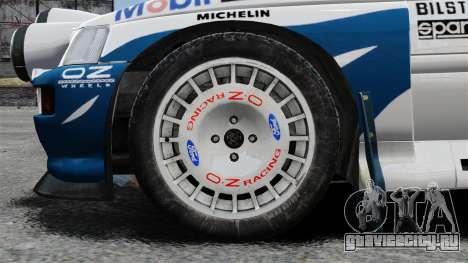 Ford Escort RS Cosworth для GTA 4 вид сзади