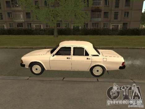 ГАЗ 31013 Волга для GTA San Andreas вид сзади слева