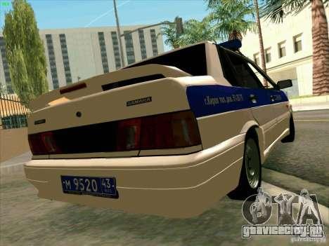 ВАЗ 2115 Полиция для GTA San Andreas вид слева
