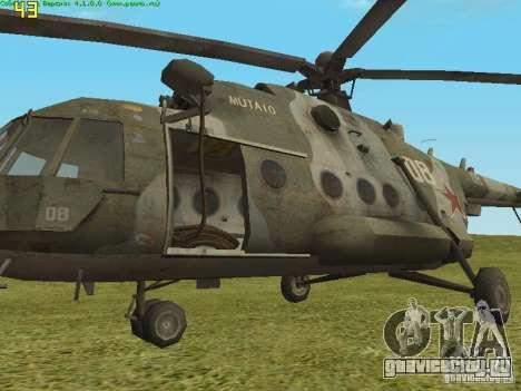 Ми-8 МТВ для GTA San Andreas вид сзади слева