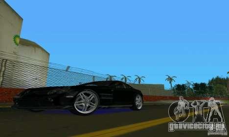 Mercedes-Benz SLR McLaren 722 Black Revel для GTA Vice City вид слева