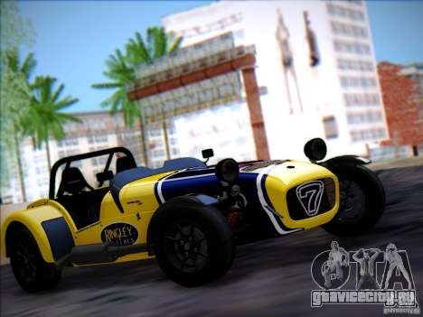 Caterham Superlight R500 для GTA San Andreas вид сзади