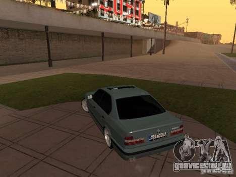 BMW E34 540i V8 для GTA San Andreas вид сзади