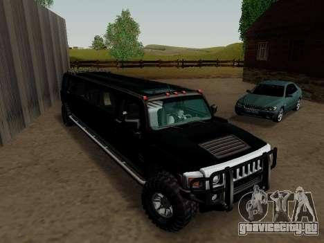 Hummer H3 Limousine для GTA San Andreas вид справа