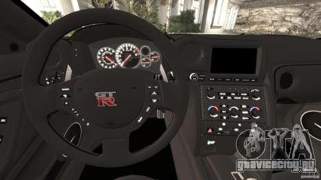Nissan GT-R 2012 Black Edition для GTA 4 колёса