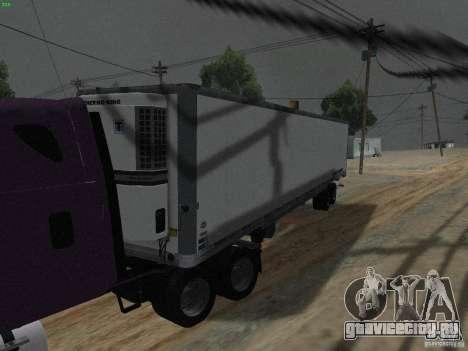 Полуприцеп к Freightliner Cascadia для GTA San Andreas вид слева