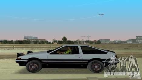 Toyota Trueno Sprinter для GTA Vice City вид сзади