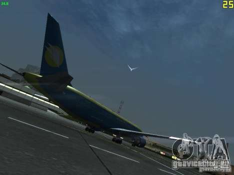 Boeing 767-300 AeroSvit Ukrainian Airlines для GTA San Andreas вид справа
