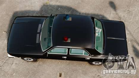 ГАЗ-3102 ФБР для GTA 4 вид справа