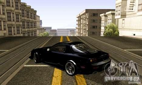 Mazda RX-7 C-West для GTA San Andreas вид сзади слева