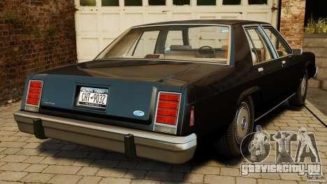 Ford LTD Crown Victoria 1987 для GTA 4 вид сзади слева